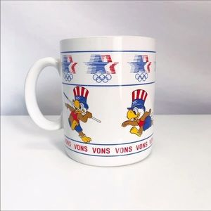 Vintage 80s Sam the Olympic Eagle Collectible Mug